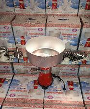 Milk cream electric centrifugal separator Metal 100L/h + Eng Manual