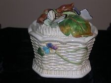 Fitz and Floyd Old World Rabbits Covered Bowl/Basket - Retired