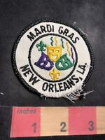DAMAGED!!! As-Is!!! Vintage NEW ORLEANS MARDI GRAD MASKS Louisiana Patch 87N7