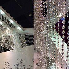 Acrylic Crystal String Curtain Beads Wall Panel Fringe Divider Room Door Window
