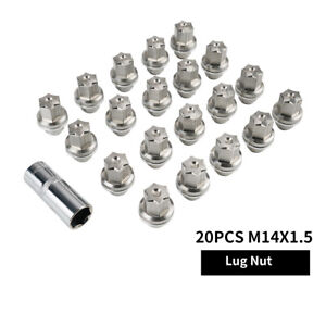 NiceCNC Wheel Nuts M14x1.5 Stainless Flag Lugs For Land Rover Range Rover Sport