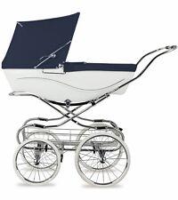 Silver Cross Kensington Hand-Crafted Pram Stroller - Navy/White