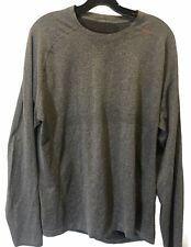 Lululemon Mens size Xxl gray long-sleeve crewneck top