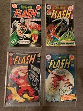 DC THE FLASH & GREEN LANTERN Four (4) Comic Book LOT 1969, 1973 & 1974 COMICS