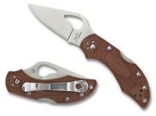 Byrd Robin 2 Lightweight Brown Plain Edge Knife - BY10PBN2