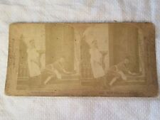 "1890 ""WELL! What Are You Looking at?"" Comic Cleaners Stereoview Photo Card"