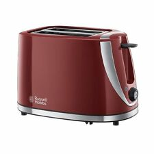 Russell Hobbs 21411 Mode 2-Slice Toaster Variable Browining in Red - Brand New