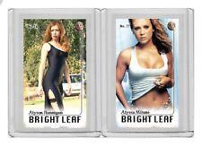 Alyssa Milano rare MH Bright Leaf #'d 1/3 Tobacco card no. 77