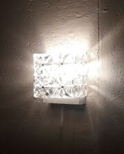 50er60er Jahre Wandlampe Lampe 50s60s lamp Kristallglas glass midcentury Eisglas