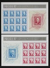 US 1997 #3139-40 Pacific 97, Washington and Franklin Souvenir Sheets, Mint NH
