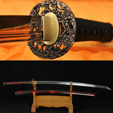 HANDMADE JAPANESE SAMURAI REAL SWORD KATANA FULLTANG BLADE CAN CUT BAMBOOS