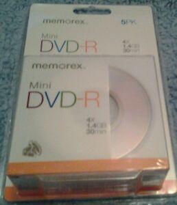 Memorex Mini Dvd-R 5Pk New