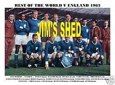 REST OF THE WORLD 1963 (V ENGLAND) - EUSEBIO/LAW/PUSKAS