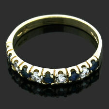 9ct Yellow Gold Ring Sapphire Cubic Zirconia 1/2 ET  Ring - Gift Boxed