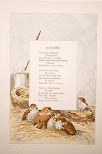Giacomelli illustration - poésie La Fauvette fin XIX°, Huyot