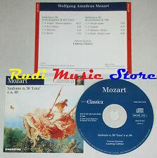 CD MOZART Sinfonie 36 linz 40 LUDWIG GUTTLER invito alla classica lp mc dvd vhs