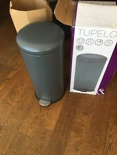 COOKE & LEWIS. TUPELO ROUND ANTHRACITE METAL PEDAL BIN. 30litre
