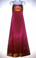 Exotic Ladies Dress by Adrianna Papell Wine w/ Gold Border Lovely Size 4