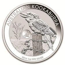 Perth Mint 2016 Monkey Privy Kookaburra One Ounce .999 Fine Silver