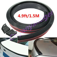 Flexible 1.5M Carbon Fiber Car Rear Roof Trunk Spoiler Wing Lip Trim Sticker Kit
