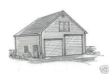 30 x 44 Two Bay FG / RV Garage Building Blueprint Plans