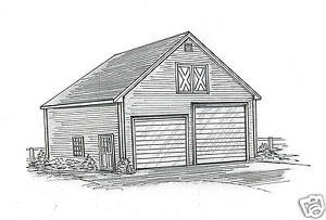 30 x 44 Two Bay FG / RV Garage Building Plans