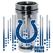 Indianapolis Colts Logo Travel Mug Tumbler Stainless Steel NEW Clear Insert