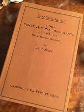 Tudor Constitutional Documents 1951 Vintage Book British Political History