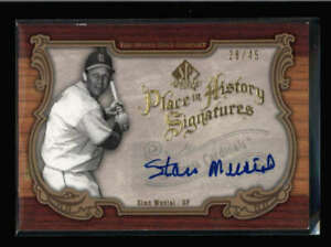 STAN MUSIAL 2006 US SP LEGNEDARY CUTS PLACE IN HISTORY AUTO #28/45 (READ) SS4139