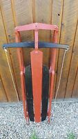 VINTAGE Wooden Snow Sledge 47x22 Flexible Flyer Sled GREAT for Decoration