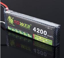 Lion power High Capacity Li-Po Battery 7.4V 4200mAh 25C lipo battery 2s T Plug