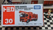 TOMICA #30 HINO RANGER HEAVY CONSTRUCTION MACHINERY TRANSPORTER NEW IN BOX
