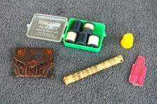 Vintage sewing needle case assories bone kit Wolfschmidt Vodka Estate find Am