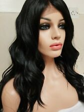 Black Human hair wig, lace front wig, swiss lace