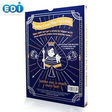 """Edi Super Jumbo Playing Cards with Large Numbers Size 11.5"""" x 8.25"""" (Dark Blue"""