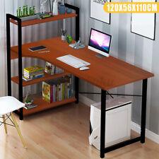 Computer Desk PC Laptop Corner Gaming Table Study Workstation Home Office Shelf