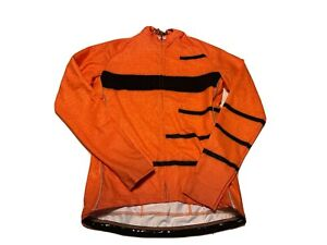 Cycology Cycling Jersey Men's Orange Inspire LS Jersey Zip NWT XL B6