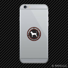 Danger Farting American Black and Tan Coonhound Cell Phone Sticker Mobile Vinyl