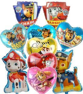 "Paw Patrol Chase Rubble Skye Marshall Rockey Helium Age 32"" Birthday Balloons"
