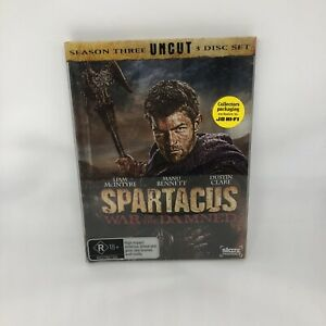 SPARTACUS War Of The Damned DVD R4 Season 3 UNCUT Very Good Condition FREE SHIP