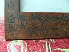 History Craft a2159 Horse Racing photo frame - carved wood - new boxed
