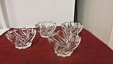 Lot 4 Mikasa Crystal Clear Glass Peppermint Swirl Serving/Desert Bowls