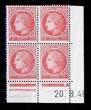 FRANCE - 1946 - N°676 1fr MAZELIN COIN DATÉ du 20.8.46 (1 point blanc) - TB