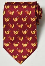 NEW Chopard Red / Fruit Mans Silk Tie 100% Authentic Italy Made