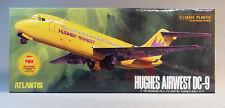 ATLANTIS TOY & HOBBY HUGHES AIRWEST DC-9 PLANE MODEL KIT 1:72 Scale AMC-6004 NEW