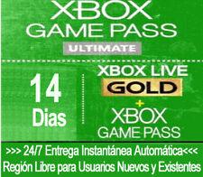Xbox Live Gold + Juego de Código de Prueba de Paso (Game Pass Ultimate) 14 días