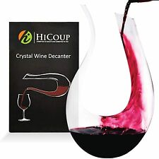 Wine Decanter by HiCoup – 100% Lead-Free Crystal Glass Hand-Blown Red Wine De...