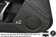 YELLOW STICH 2X DOOR SPEAKER TRIM LEATHER COVER FOR TOYOTA GT86 SUBARU BRZ 12-16