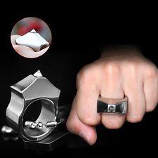 Tungsten Steel Self Defense Supplies Ring Women Men Safety Survival Finger Ring