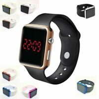 LED Digital Screen Wrist Sport Watch For Men Women Unisex Boys Girls Kids UK